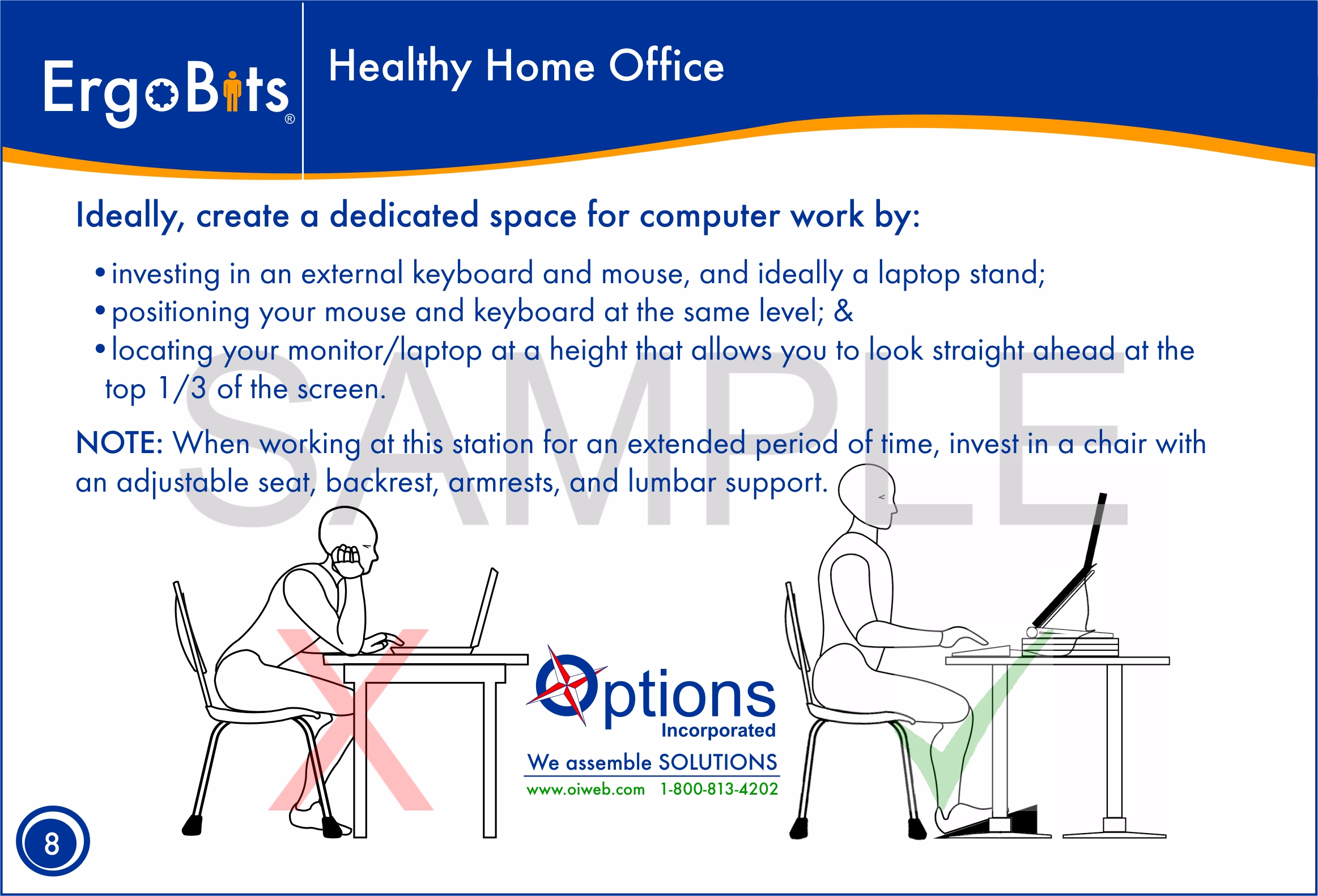 Sample Healthy Home Office Postcard